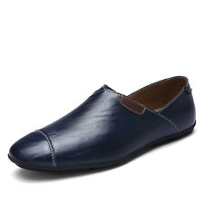 GOMNEAR Men Big Size Genuine Leather Shoes Antiskid Loafers Business Casual Shoe