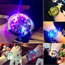 Luxury LED Digital Backlight  Silicone Analog Quartz Women Wrist Watch