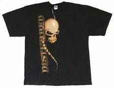 Disturbed Spine Skull 2008 Tour AR-OH Black T Shirt New Official Squindo
