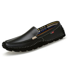 GOMNEAR Mens Big Size Genuine Leather shoes Loafers Driving Dress Casual shoes