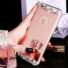 Bling Crystal Diamond Mirror Soft TPU Back Cover Case For Apple iPhone Models M