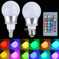E27/E14 5W RGB LED Light Color Changing Lamp Bulb 85-265V With Remote UTAR