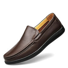 Men Big Size Genuine Leather Shoes Non Slip Loafer Walking Casual Shoes GOMNEAR