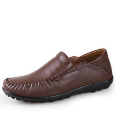 GOMNEAR Men Big Size Fashion Genuine Leather shoes Loafers Dress Casual Shoes
