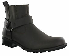 Western Cowboy Ankle Harness Chelsea Twin Gusset Mens Pull On Boots UK7-12