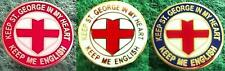 Keep St. George In My Heart Keep Me English - England Heart Pin Badge
