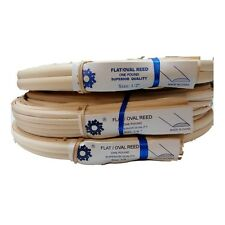 """1 Lb Coil Flat Oval Reed, Natural Color, Any Size 1/4"""" 3/8"""" 1/2"""""""