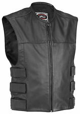 RIVER ROAD HARRIER MOTORCYCLE LEATHER TAC VEST