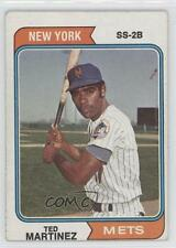 1974 Topps #487 Ted Martinez New York Mets Baseball Card