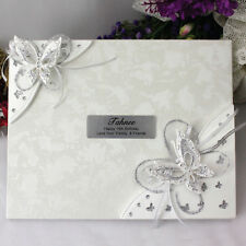 18th Birthday Guest Book - 3D Butterfly - Add a Name & Message