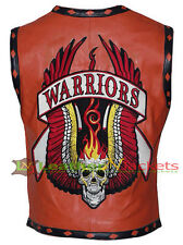 Warriors Leather Vest New Design High Quality Embroidery + Free Fastest Shipping