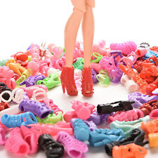 15/30/60 Pairs Doll Shoes Multiple Styles Heels Sandals For Barbie Dolls hc