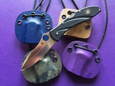 Neck/Pack Sheath for Spyderco C66PBK3 CENTOFANTE III - Choose from 4 - No knife