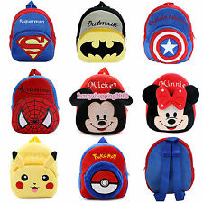 Cartoon Mickey Minnie Boys Girls Kids Nursery Baby Toddler Backpacks Schoolbag