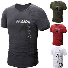 1PCS Hot Mens Fashion Cotton Short Sleeve Sport Slim T-Shirt 2017 New Casual