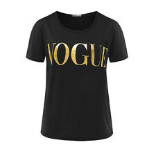 Fashion T Shirt Womens VOGUE Printed T-shirt Womens Tops Tee Shirt New Arrivals