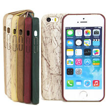 Hybrid Case Wood for Apple iPhone Series TPU Silicone Cellphone Bumper NEW
