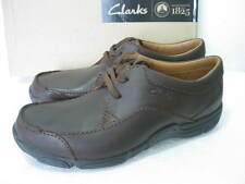 NEW CLARKS ACTIVE AIR RANCH RUN BROWN LEATHER SHOES SIZE 10 G