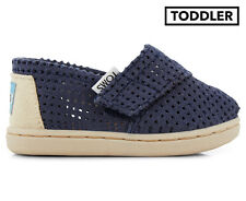 TOMS Tiny Toddler Classic Perforated Shoe - Navy