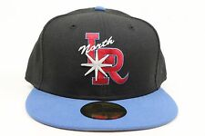 North Arkansas Travelers Black Slate Blue Red MiLB New Era 59Fifty Fitted Hat