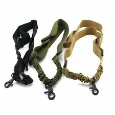 Tactical 1 One Single Point Sling Strap Bungee Quick Release Rifle Gun Sling