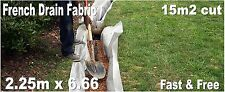 French Drain Filtration Membrane Fabric - Soakaway Channel - FAST n FREE 15m2