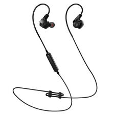 Bluetooth Headset Earphones Sweatproof Stereo Noise Cancelling Earbuds with Mic
