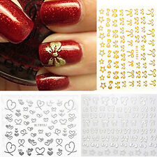 3D Bowknot Heart Nail Art Tips Studs Sticker DIY Decoration Manicure Decal Witty