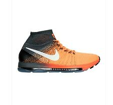 NEW Mens Nike Zoom All Out Flyknit Running Shoes Orange Anthracite 844134-800 f1