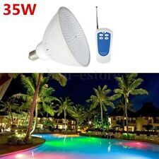 35W Par56 RGB LED Swimming Pool Light Fountain Bulb Lamp E27 AC 12V/110V/220V