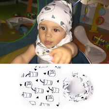 Soft Hat Cap+Bib Towel Head Scarf 1 Set Infant Kids Baby Boy Girls New Fashion
