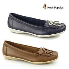 Hush Puppies CEIL MOCC KL Ladies Womens Leather Slip On Summer Loafer Shoes