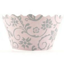 Bella Cupcake Couture Hannah Pink and Gray Wrapper
