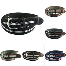Men's Belts Canvas Striped Buckle Belts Outdoor Sport Waistband Waist Straps New