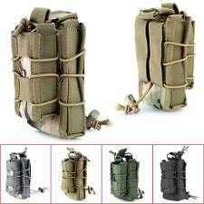 Tactical Military Open Double Rifle and Single Pistol Magazine Pouch Bag Holder