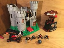 Fisher Price Great Adventures Castle DRAGON TOWER boulder blaster KNIGHT FIGURES