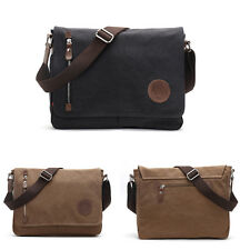 Vintage Mens Canvas Messenger Shoulder Bag Crossbody School Bags Satchel Tote