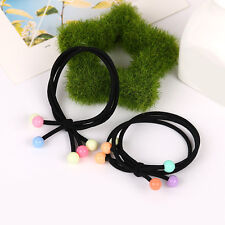 1Pc Women Hair Band Elastic Rope Ring Tie Cherry Imitation Pearl Beads DIY Gifts