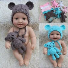 Crochet Newborn Photography Boys Girls Knit Toy Bear Hats Infant Baby Photo Prop