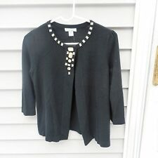 LUXE 360 WOMENS DRESSY SWEATER SIZE SMALL black bling