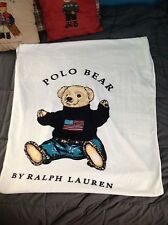"NWT Polo Bear Ralph Lauren Sit Down Bear Beach Shower Towel 66""x34"" Body Sheet"