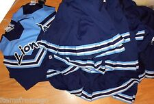 LIONS C&D Cheerleader UNIFORM TOP or SKIRT Navy, Light Blue, White - Choice