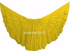 Yellow Chiffon Gypsy 32 Yard Skirt Tribal Fusion Belly Dance Skirt ATS SKIRTS