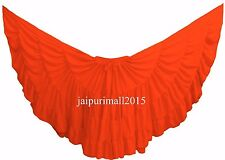 Orange Chiffon Gypsy 32 Yard Skirt Tribal Fusion Belly Dance Skirt ATS SKIRTS