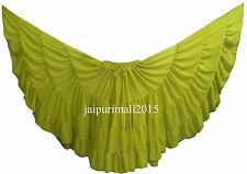 Yellow Green Chiffon Gypsy 32 Yard Skirt Tribal Fusion Belly Dance Skirt ATS