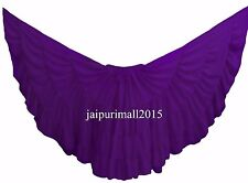 Purple Chiffon Gypsy 32 Yard Skirt Tribal Fusion Belly Dance Skirt ATS SKIRTS