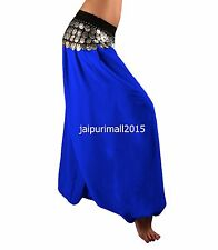 Women Girl Chiffon Harem Yoga Pants Belly Dancing Harem Pant Genie Aladdin Harem