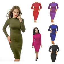 Womens Sexy Club Dress Long Sleeve Hollow Out Bodycon Bandage Party Dresses K5H5