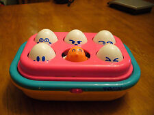 Tomy  Easter Egg Game Hide n Squeak Matching Shapes Faces Chicks