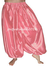 Salmon Belly Dancing Satin Harem Pants Yoga Genie Aladdin Harem Trouser Pants